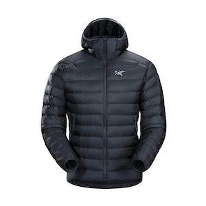 Arcteryx lightweight down jacket for hiking