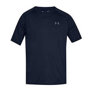 Blue breathable athletic shirt