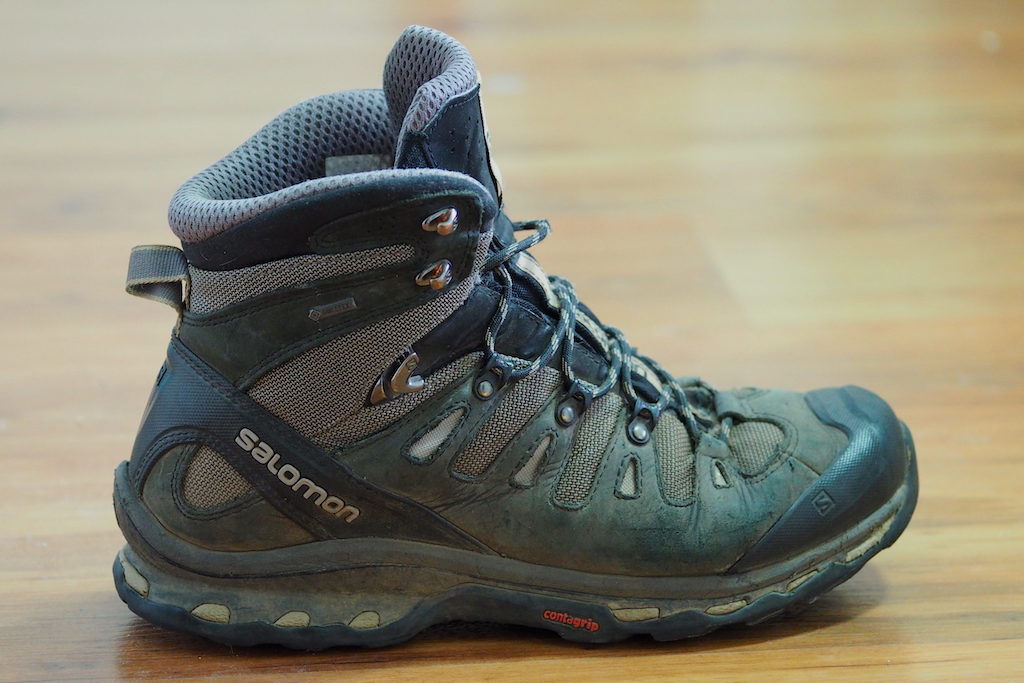 5c28bafcff2 A side profile of the Salomon Quest 4D 3 GTX backpacking boot