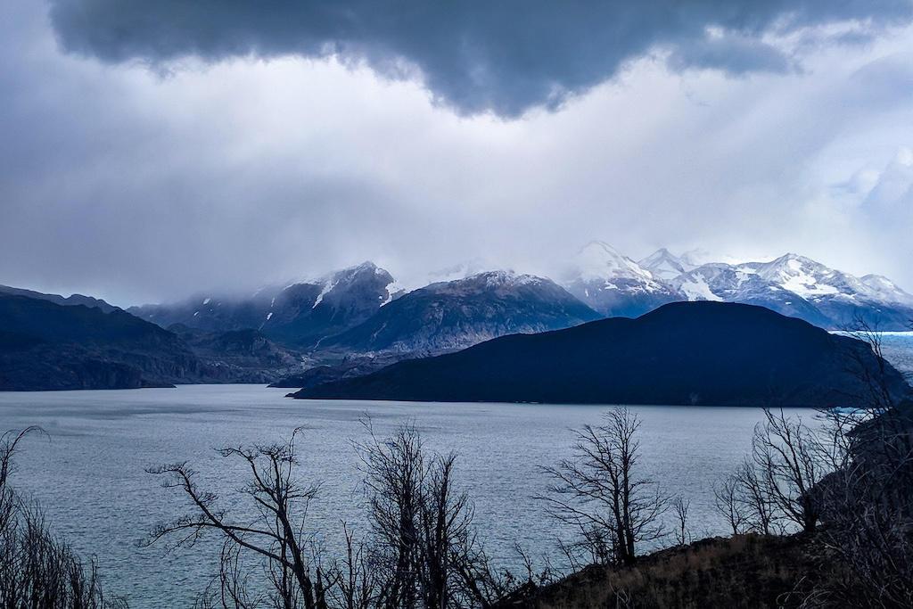 Dark storm clouds over Lake Grey