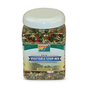 Freeze-dried backpacking food (vegetables)