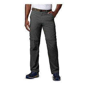 Grey travel and backpacking pants