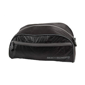 Packable toiletries bag as part of carry-on only travel list