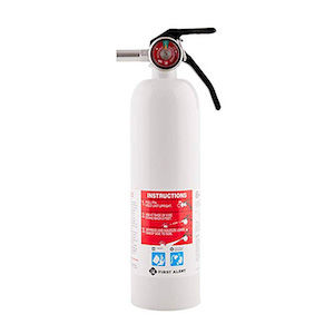 RV fire extinguisher for living in a van full time