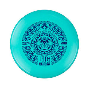 Green frisbee with a tribal design