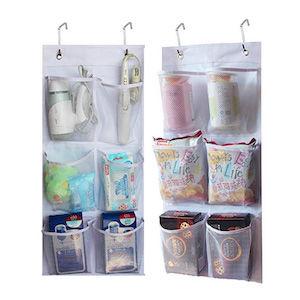 Hanging storage mesh bags for van life gadgets