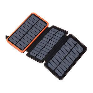 Solar powered battery bank