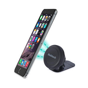 A magnetic phone mount gadget for van life