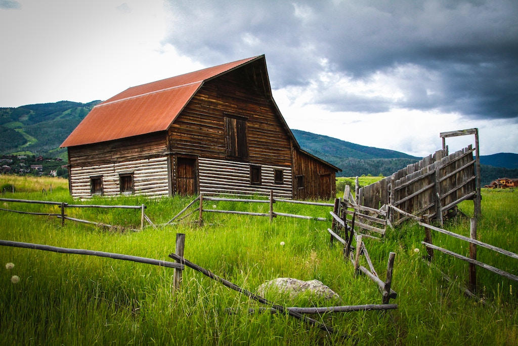 An abandoned barn near Steamboat Springs, Colorado
