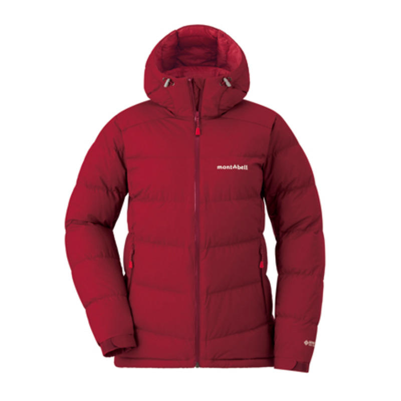 Red down jacket from Montbell website